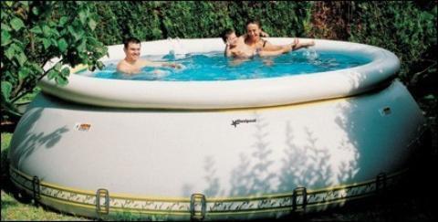 uppblåsbar pool värme