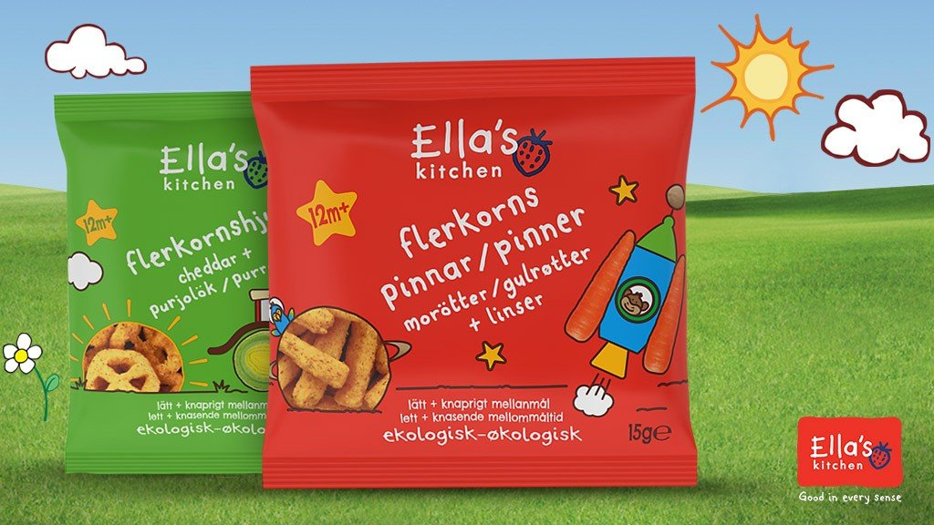 Ella's Kitchen flerkornssnacks