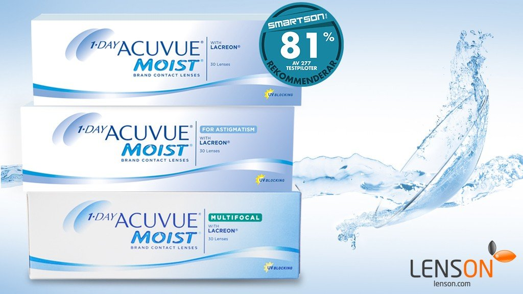 1-DAY ACUVUE® MOIST endagslinser