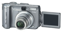 Canon Powershot A620 lcd